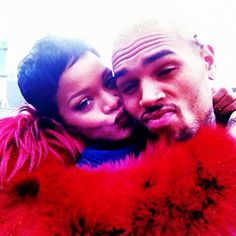Chris Brown and Rihanna today. How cute! on Twitpic