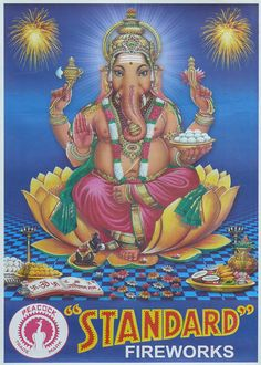Publicité pétard à mèche - Fireworks ads - Ganesh - Inde - India India Poster, Ganesh, Princess Zelda, Posters, Fictional Characters, Art, India, Art Background, Kunst