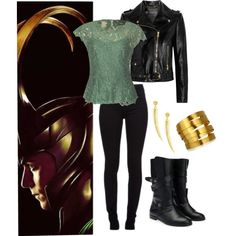 Loki inspired outfit. I would wear this in a heartbeat.