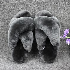 5b6c8cf434c3 Natural Sheepskin Winter Warm Fur Slippers Women Home Shoes Men Indoor  Slipper 2016 Luxury Unisex Furry Slippers Big Size
