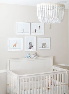 A neutral nursery with animal details