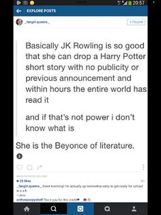 JK Rowling... the Beyonce of literature