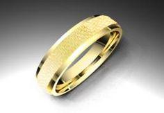 Alianza de oro amarillo de 18K modelo Biselada calibre 4,5mm  #alianzas, #anillosdeboda, #boda, #novias www.cnavarro.com