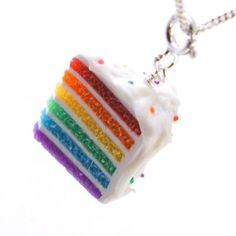 Rainbow Cake Necklace <3 @Hunny Kidd how about these for the girls as gifts for stading with me
