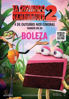 Chovendo Hambúrguer 2 estreia 4 de outubro. Mas o mais legal disso é que você pode colecionar os personagens da série! Visite os pontos da MiCA e colete os postais com cada um dos personagens.   Ao escanear o QR Code em cada postal, você pode ter acesso a conteúdo exclusivo.