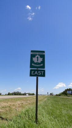 Trans Canada Highway through Manitoba.