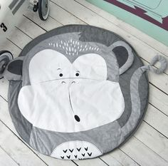 Monkey Design Play Mat for Baby Creative Baby Gifts, Best Baby Gifts, Cute Giraffe, Boho Home, Playroom Decor, Animal Faces, Baby Play, Baby Outfits Newborn, Baby Prints