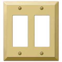 Amerelle Century 2-Gang Polished Brass Decorator Rocker Steel Wall Plate