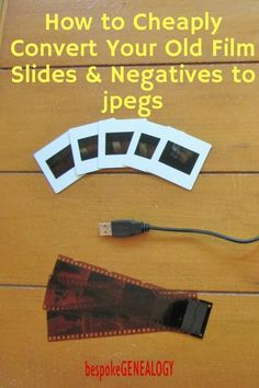 How to cheaply convert your old film slides and negatives to jpegs. This post from Bespoke Genealogy looks at how buying a low cost film scanner can allow you to easily digitize slides and negatives, saving you money. Photo Negative, Photography Lessons, Digital Photography, Photography Studios, Photography Tutorials, Iphone Photography, Newborn Photography, Street Photography, Photo Tips