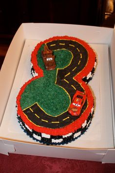 Cars theme cake for a friend's son