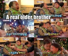 awww Song Daehan~good big brother to Minguk & Manse
