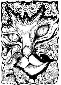 Dog Coloring Page, Adult Coloring Book Pages, Printable Adult Coloring Pages, Animal Coloring Pages, Detailed Coloring Pages, Cool Coloring Pages, Coloring Sheets, Coloring Books, Christmas Colors
