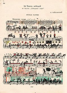 Sheet music with clever illustrations, FUN design! Street Art Graffiti, Illustrations, Illustration Art, People Illustration, Handwritten Text, Sheet Music Art, Music Sheets, Music Artwork, Art Plastique