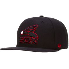 52e3c8878550f Chicago White Sox Black and Red Snapback by 47 Brand  Chicago  WhiteSox   ChicagoWhiteSox
