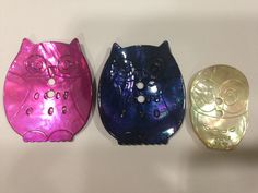Owls Sewing Buttons. Bottoni gufo.