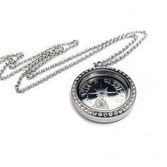 Compass coordinate locket #jewelry #necklace #locket #giftideas