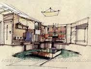 ผลการค้นหารูปภาพสำหรับ interior design hand renderings