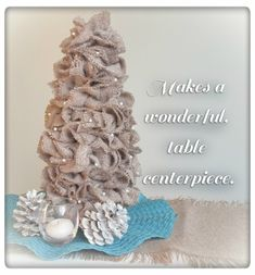 Burlap Tabletop Tree! #12daysofChristmas Linky Party at www.shanty-2-chic.com