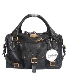 Chloe Paddington Satchel Black Leather