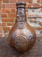 Mid 17th Century Antique Stoneware Belarmine Jug