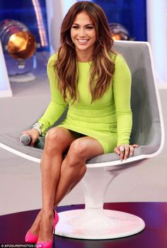 Juicy lime: Jennifer Lopez looked spicy on Brazilian show Melhor Do Brasil thanks to this racy dress