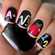 School Theme Nail Designs That Make Us Want To Hit The Books Divine Caroline