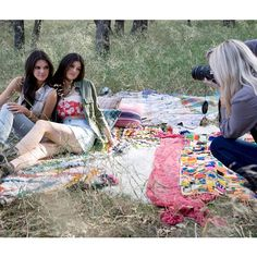 We captured this behind the scenes pic of @kendalljenner and Kylie @iputthedistrictonmyback on location at Saddlerock Ranch, CA during the 'Kendall & Kylie' collection shoot. Register online at pacsun.com/kendall to shop the line before it launches on Feb. 8th. Photo by @harpersmithphoto #kandk4pacsun