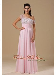 Saint Louis Sweetheart Neckline Baby Pink Chiffon Floor-length 2013 Prom Celebrity Dress  http://www.fashionos.com/  http://www.facebook.com/quinceaneradress.fashionos.us   This pretty creation is characterized by the straps overflowing with shimmering beading and a lovely sweetheart on the ruched bodice. The romantic chiffon skirt falling from the high waist with long length sways beautifully across the floor when you move, as if you're floating on air.