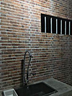 #brick #bricks #bricksexposed #sink #sanitary #kitchen #industrial #industrialkitchen
