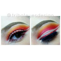 "tmpmakeup — Tribal Eyes Design on Instagram: ""Getting better..."