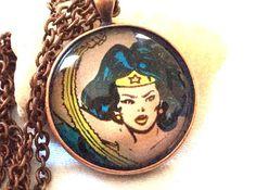 Authentic Vintage Comic Book Ephemera Mixed Media by mardeejewelry, $30.00