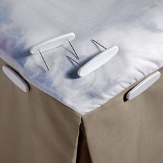 Use Bed Skirt Pins to anchor your bed skirt to the box spring so it won't get disturbed when you change your sheets. Even flipping the mattress won't mess up your bed skirt when it's secured with bed skirt pins. Closet Bedroom, Home Bedroom, Bedroom Decor, Bedrooms, Master Bedroom, Bedroom Ideas, My New Room, My Room, Guest Bed