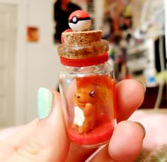 Pokemon inspired Bottle Charm Charmander by SheepPeep on Etsy