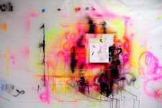 Justine Frischmann - In The Make  It's all about the spray paint.
