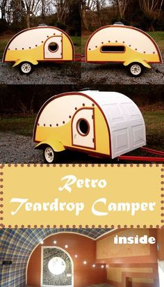 The sweet yellow teardrop camper trailer was made for a budget of $1,500. #camping