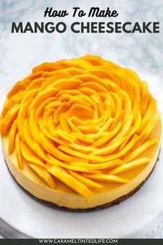 Easy Instant Pot mango cheesecake recipe. The best mango cheesecake, without gelatin, made in the Instant Pot #17 #lowcarb #mango #cheesecake #instantpotcheesecake #dessert #easy #Indian #bestcheesecake Easy No Bake Cheesecake, Caramel Apple Cheesecake, Mango Cheesecake, How To Make Cheesecake, Best Cheesecake, Pumpkin Cheesecake, Cheesecake Recipes, Great Desserts, Best Dessert Recipes