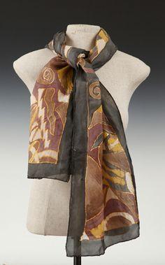 Cecilia Ridge - scarf in earth tones and black