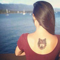 . #wolf #back #tatt