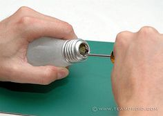 DIY Hollow Out A Light Bulb