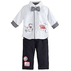 101 Dalmatians Deluxe Woven Shirt and Pant Set for Baby | Disney Store Your little pup will strut in style while wearing our Deluxe Woven Shirt and Pant Set. Fashioned with a houndstooth bow, this dapper ensemble is certain to garner compliments all over the city.