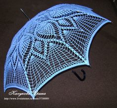 How to make crochet parasol umbrella - Upcycle an old umbrella frame DIY   To Translate Into English  Copy the text from the tutorial website and put it into the google translator box.  http://translate.google.com/#auto en 