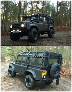 //110 DEFENDER COUNTY SW 300 TDI PRATER BESPOKE Apocalypse Edition. Interesting box iron roll cage. Not bad.....