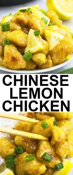 This quick and easy CHINESE LEMON CHICKEN recipe requires simple ingredients. It's sweet and tangy with Oriental flavors. This Asian lemon chicken is cheaper than Chinese takeout too. From cakewhiz.com