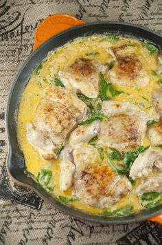 Chicken thighs and tasty lemon butter sauce made in a cast iron skillet create this lemon butter chicken.  Easy and delicious!