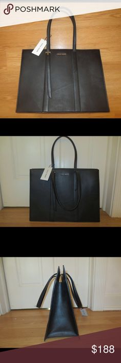 Cole Haan Large Tote This bag is a large black sturdy tote! It is new and unused with the tags! Perfect for any type of use whether it's for business or fashion. Cole Haan Bags Totes