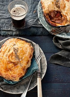 Lamb and Guinness individual pies