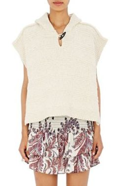 Isabel Marant Étoile Hooded Flora Sweater Poncho at Barneys New York