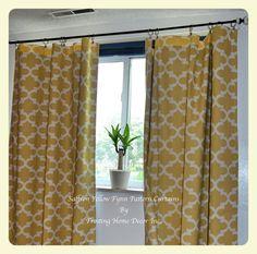 Yellow Window Treatments Drapes Nursery Decor by FrostingHomeDecor
