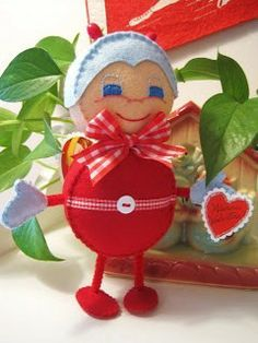 """Creative Breathing shares the pattern for this """"Love Bug"""" felt doll."""