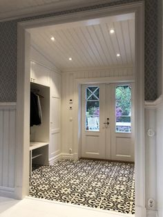 Home Room Design, House Design, Flur Design, Hallway Inspiration, Entry Way Design, House Entrance, Home Reno, House Rooms, My Dream Home